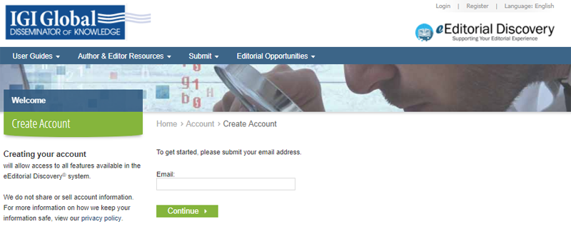 Account Creation Page 1