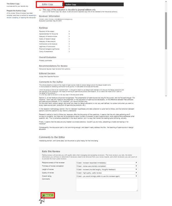 ERB Evaluation - Editor Copy